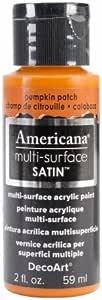 Deco Art DA5-30-11 Americana Multi-Surface Satin Acrylic Paint 2oz-Pumpkin Patch