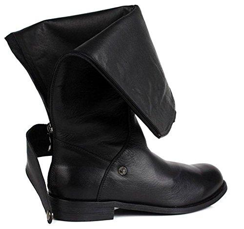 Al Cavaliere Uomini Cerniera XIE Stivali Pelle Scarpe sopra BLACK di Britannico 45 balestruccio 45 Basso Autunno Casuale Ginocchio Inverno Nero di alto tqfdwzf