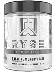 RYSE Up Supplements, Element Series Creatine Monohydrate (5g), Unflavored, 300 Gram (60 Servings)