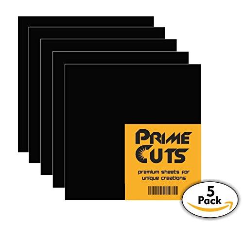 Permanent Self Adhesive (Permanent Adhesive Vinyl Sheets - PrimeCuts - 5 Black Sheets 12