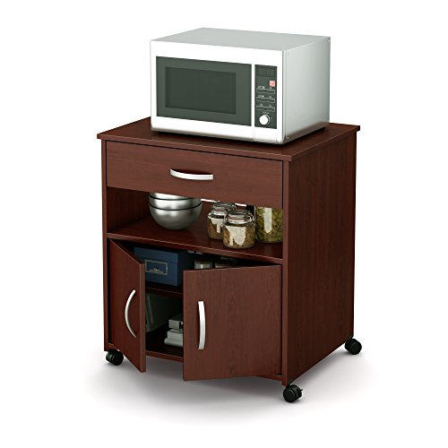 microwave cart cherry wood - 2