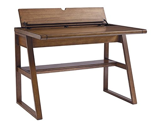 Writing Desk Power Cord Included Made of Veneers Wood and Manmade Wood Hand Finished 1 Fixed Shelf Oil-rubbed Bronze-tone Hardware by eCom Fortune (Image #1)
