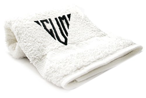 Black Tri Embr Cum Towel by Towels With Attitude