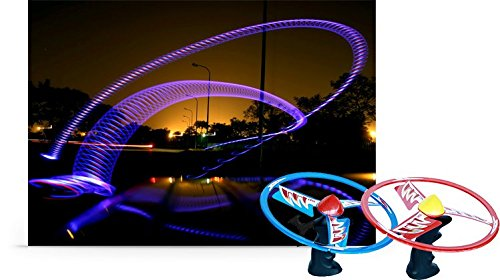 TOSY AFO Flash Flyer Alien Light Up Flying Object - Returns Back Like a Boomerang - (Colors May Vary)