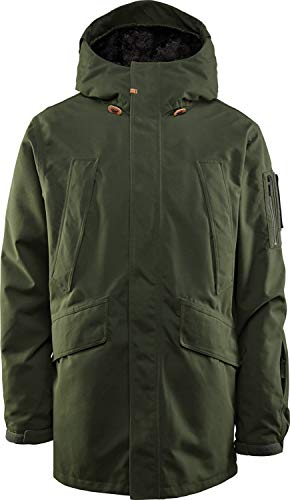 (32 - Thirty Two Deep Creek Snowboard Jacket Military Mens Sz M)