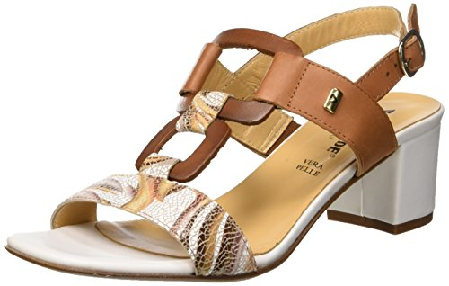 Ouvert 18ee Sandalo Bout Sandales Cuoio Femme Cuoio Cuoio Valleverde Marron paqIwg