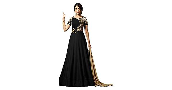 Amazon.com: Traje largo de seda de pakistaní de la India ...
