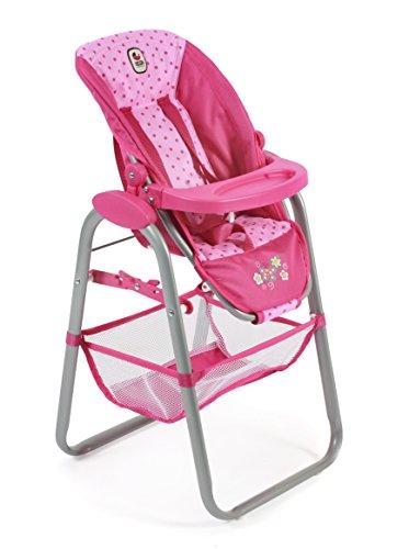 - Bayer Chic 200065531Dolls High Chair, Dots Pink