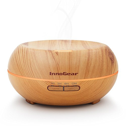 InnoGear 200ml Aromatherapy Essential Oil Diffuser, Wood Grain
