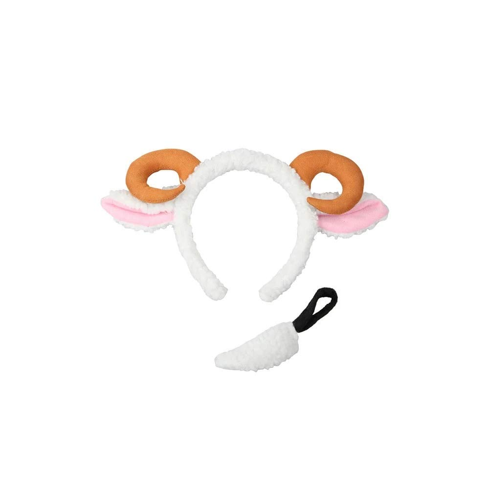 Sheep Ears /& Tail Animal Fancy Dress Accessory Set