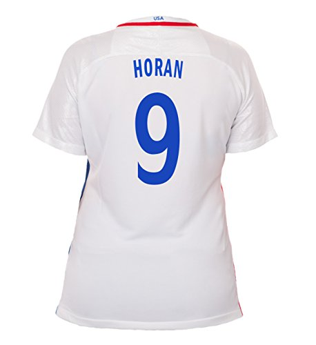 (Nike Horan #9 USA Home Soccer Jersey Rio 2016 Olympics Women's (L))
