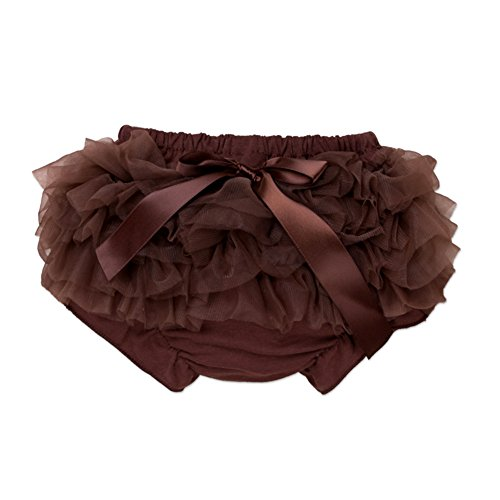 LOSORN ZPY Baby Girls Lace Ruffle Bloomers Newborn Bowknot Tutu Diaper Cover Coffee XL -