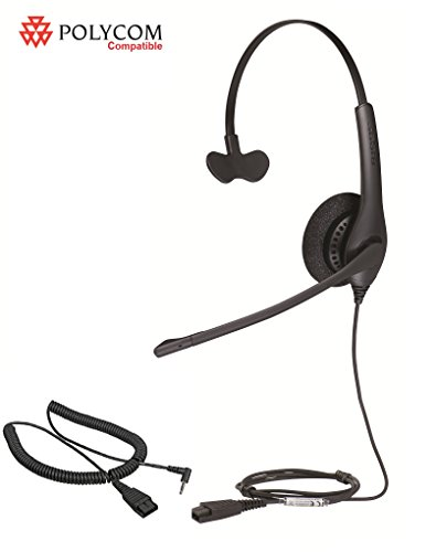 Polycom certified Jabra BIZ 1500 Mono Headset Bundle for ...