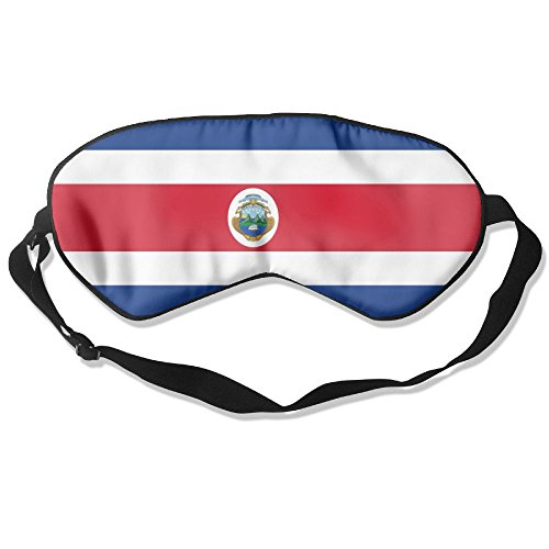 Flag Of Costa Rica Adult Children Unisex Sleeping Eye Mask Natural Silk Cover With Adjustable Strap Blindfold Super-smooth - Oakley Costa La