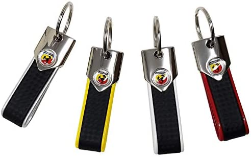 Abarth Offizieller Schlüsselanhänger Kohlefaser Look Und Gelb Auto