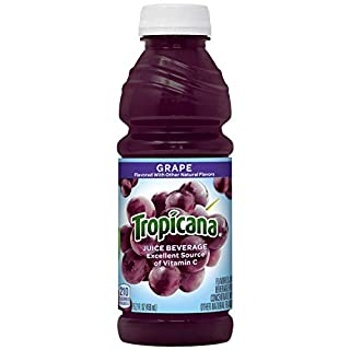 Tropicana Grape Juice Drink, 15.2 fl oz Bottles, (Pack of 12)