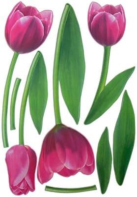 2 XXL hojas tulipanes para pared Tatuajes de pared adhesivo ...