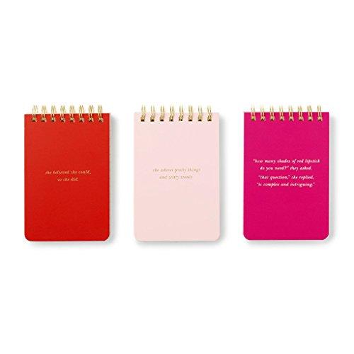 Kate Spade Spiral notepad set, Blush, Green, Red, Pink (175052)