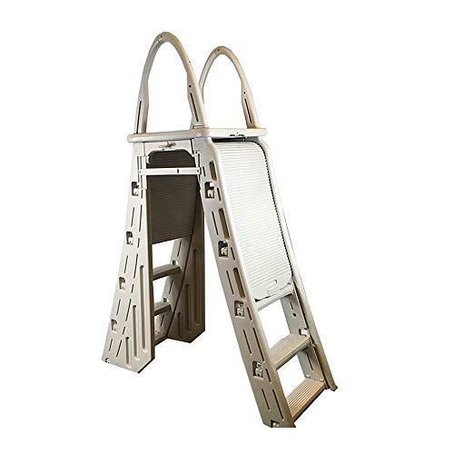 Confer Plastics A-Frame 7200 Above Ground Adjustable Pool Roll-Guard Safety Ladder (Above Swimming Ground Steps Pool)
