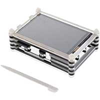 Homyl 3.5 LCD TFT Display Touch Screen Kit with 9 Layer Case for Raspberry pi 3