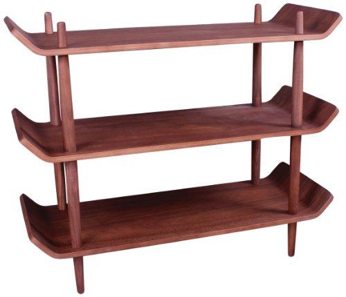Control Brand Morris Bookshelf, Walnut - Barrister Wood Frame
