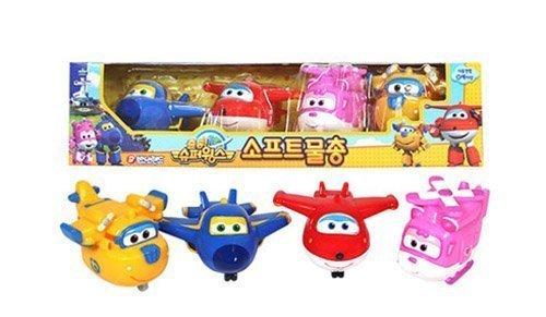 Super wings [Soft Water Gun 4Pcs] Korean TV Animation Bath Toy