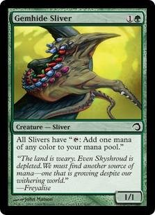 Magic: the Gathering - Gemhide Sliver - Premium Deck Series: Slivers - Foil (Sliver Deck Magic Gathering)