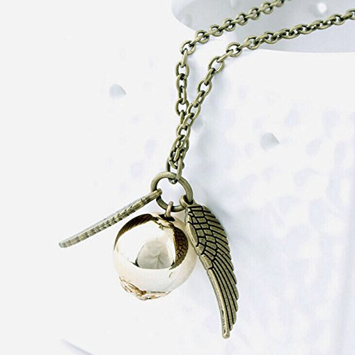 Style Pendent Necklace - Harry Necklace Men Vintage Style Angel Wing Charm Snitch Pendent Necklace For Men Necklace Tainless Chain
