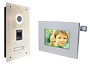 FINGERPRINT TÜRSPRECHANLAGE 7\'\' MONITOR GEGENSPRECHANLAGE ...
