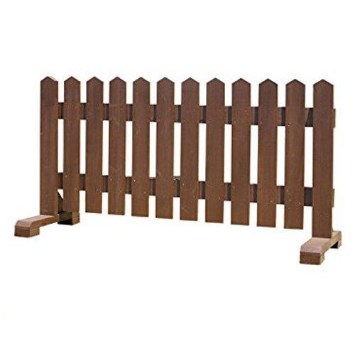 木製 ピケットフェンス -ブラウン- 【受注製作品】 (幅120cm) 犬 目隠し 屋外 飛び出し防止 柵 ガード さく 木製フェンス B07BQMBPR7 28120 幅120cm  幅120cm