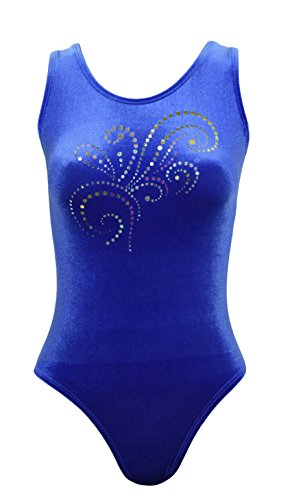 Sookie Active Velvet Classic Tank Leotard with Sparkle Design (Royal Blue, Ladies - 5X) by Sookie Active