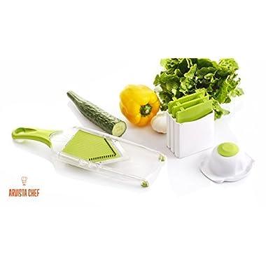 Premium Mandoline Slicer Vegetable Slicer Vegetable Chopper Vegetable Cutter French Fry Cutter Tomato Slicer Potato Slicer Julienne Carrots