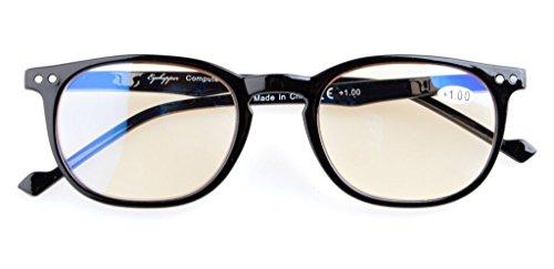 Reduce Eyestrain,Anti Blue Rays,UV Protection,Unisex Computer Reading Glasses