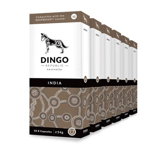 DINGO REPUBLIC India - 60 Nespresso Original Line Compatible Coffee Capsules (Specialty Coffee)