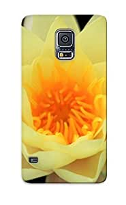 lintao diy Alexanderdson Rugged Skin Case Cover For Galaxy S5- Eco-friendly Packaging(yellow Water Liliy)