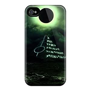 AWU DIYExcellent Design Black Moon Case Cover For Iphone 4/4s