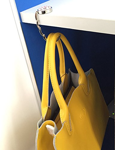 Rhinestone Decor Handbag Table Hook Purse Desk Hanger