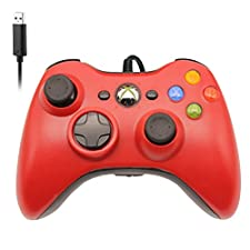 Xbox 360 Controller by RUPPOLAR USB Wired PC Computer Game Controller for Microsoft Windows 7/8/10 Xbox 360 & Slim (Xbox 360, Red)