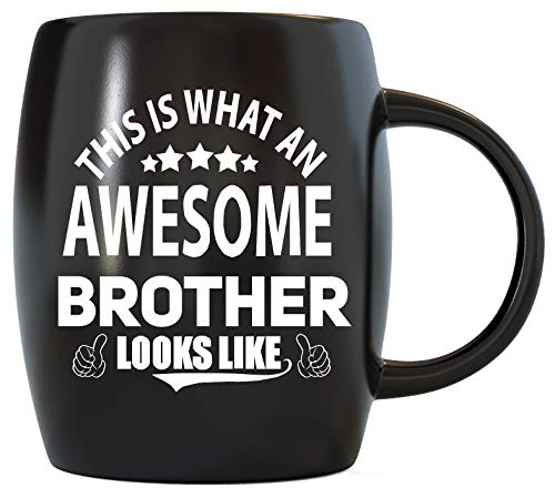 Fathers Day Gift for Brothers What An Awesome Brother Looks Like Worlds Best Bro Ever Graduation Birthday Christmas Gift from Sister Novelty Gag Gifts Idea for Sibling Ceramic Coffee Mug Tea Cup