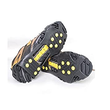 Amazon.com: ShoeTecPro Walk Traction Ice Cleat and Tread for Snow, Ice, Attaches Over Shoes/Boots for Everyday Safety in Winter, Outdoor, Slippery Terrain ...