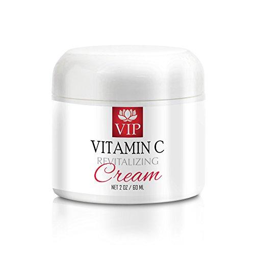 antioxidant powder - VITAMIN C REVITALIZING CREAM - vitamin c serum and hyaluronic acid - 1 Jar by VIP VITAMINS