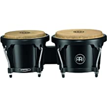 Meinl Bongos with ABS Plastic Shells-NOT Made in China-Natural Skin Heads, 2-Year Warranty, Free Ride Suspension System (HB50BK)