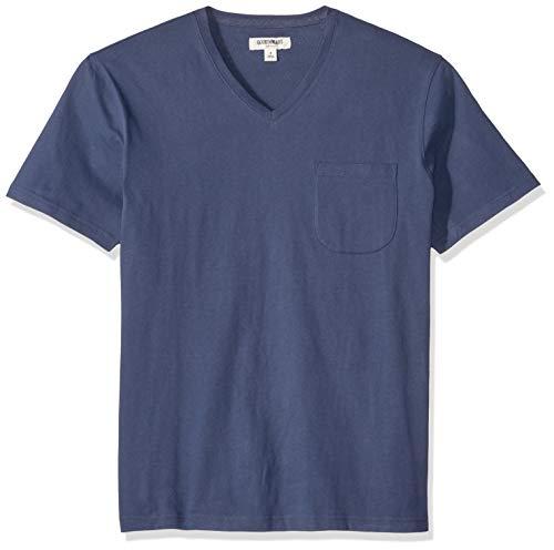 - Goodthreads Men's Short-Sleeve Sueded Jersey V-Neck Pocket T-Shirt, Navy, Medium Tall