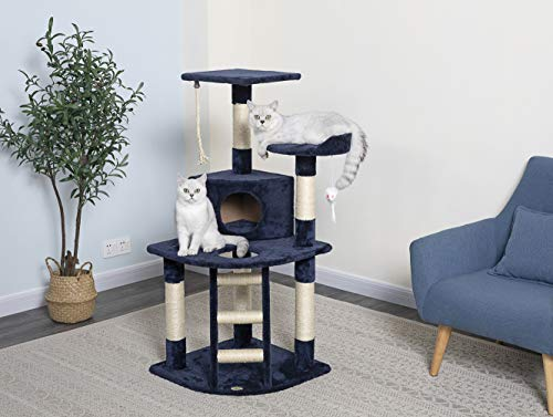 Amazon.com: Go Pet Club árbol para gatos, casa tipo ...