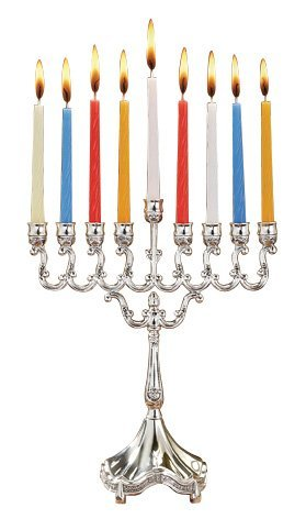 "Legacy fine gifts and judaica - menorah 6.5"" x 8.5"" silver plated"