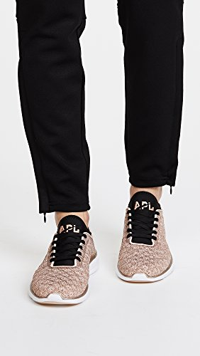 APL: Athletic Propulsion Labs Womens Techloom Phantom Sneakers Rose Gold/Black H6i3O4