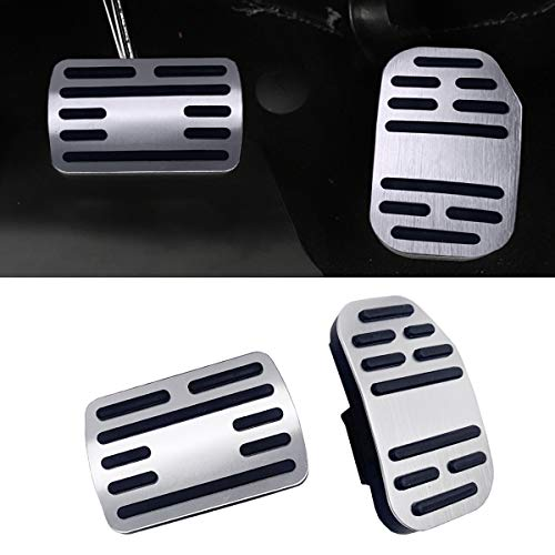 2019 Accelerator Pedal - Jaronx No Drill Pedal Covers for Ford F150, Aluminum Alloy Anti-Slip Gas Pedal Cover Break Pedal Pad at Accelerator Pedal Covers for Ford F150 2019(2PC Set)