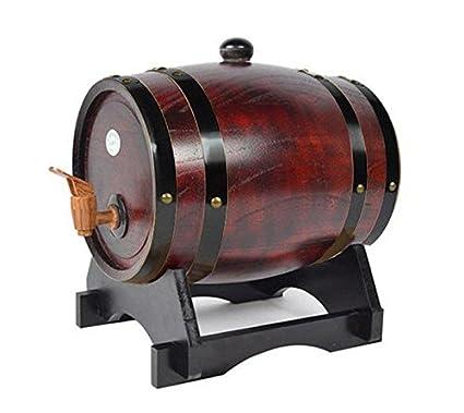 Dispensador de vino de barril de madera Pine 5L, 6