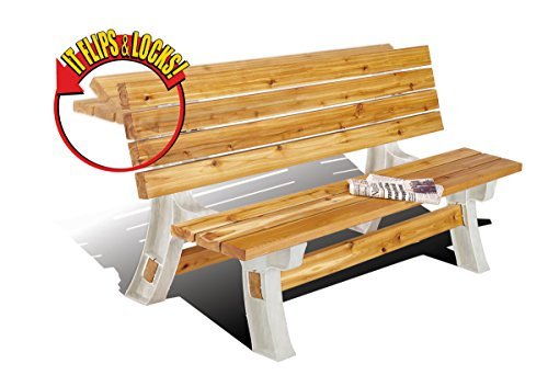 - 2x4basics 90110ONLMI Custom Flip Top Bench to Table, Sand