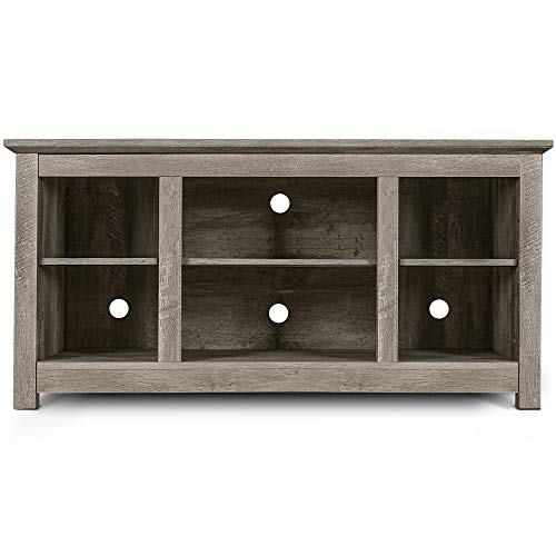 BELLEZE 50 Inch Farmhouse Wood TV Console for TV s up to 55 Living Room Storage, Ashland Pine